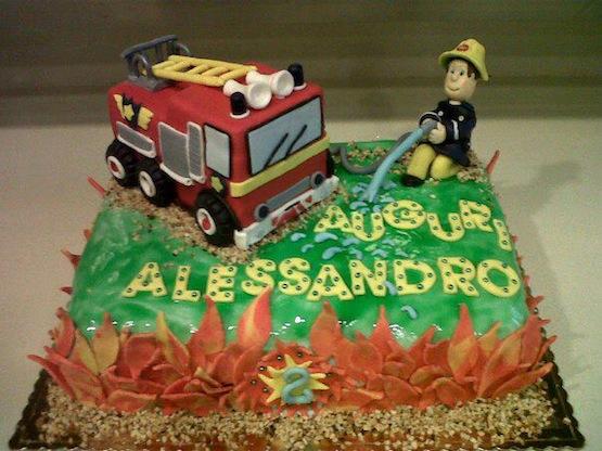 Torta sam pompiere torte di cake design con l eroico