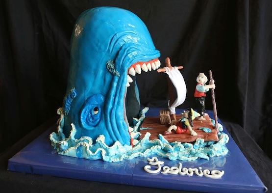 Torta pinocchio gallery di cake design for Pesci con la e