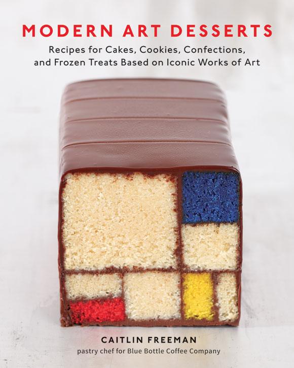 La copertina di Modern art Desserts. Image courtesy of Ten Speed Press, © 2013 Mondrian/Holtzman Trust.