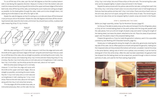 Le pagine dedicate alla Mondrian Cake della copertina sono