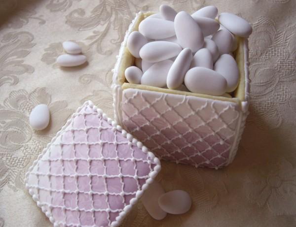 scatola biscotti decorata cake design