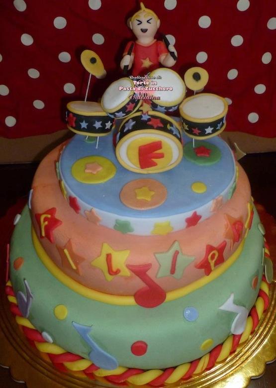 Cake Design Strumenti Musicali : Torte a forma di batteria - Cakemania, dolci e cake design