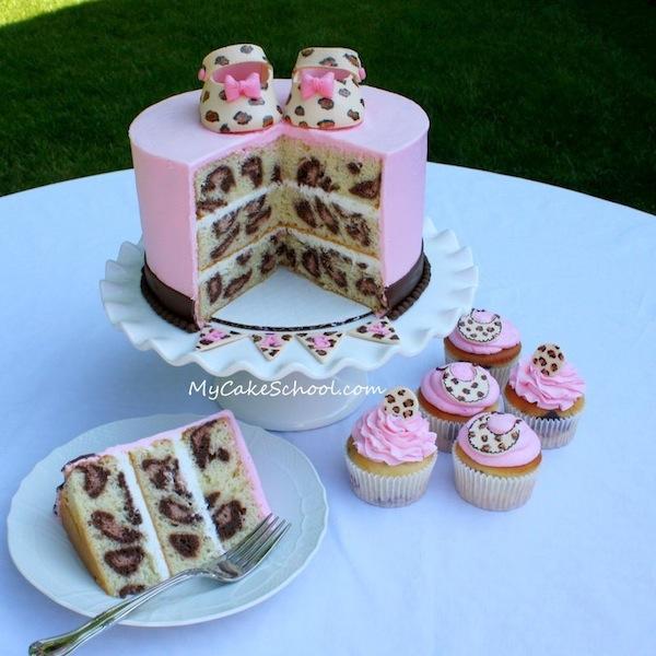 Torta Con Interno Leopardato