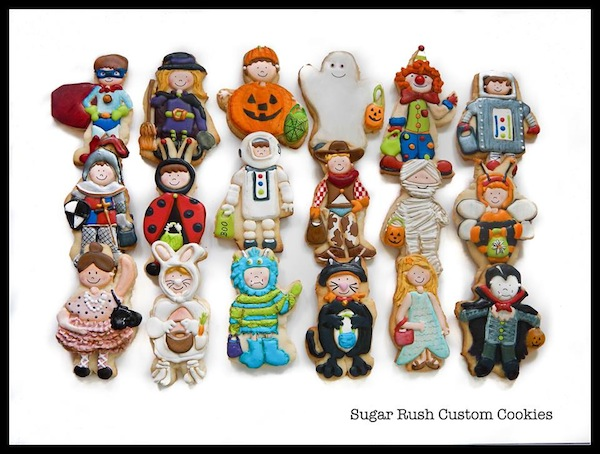 © Sugar Rush Custom Cookies bambini travestiti per Halloween