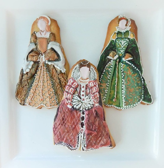 Sugar Rush Custom Cookies biscotti vestito cookie tudor rinascimento