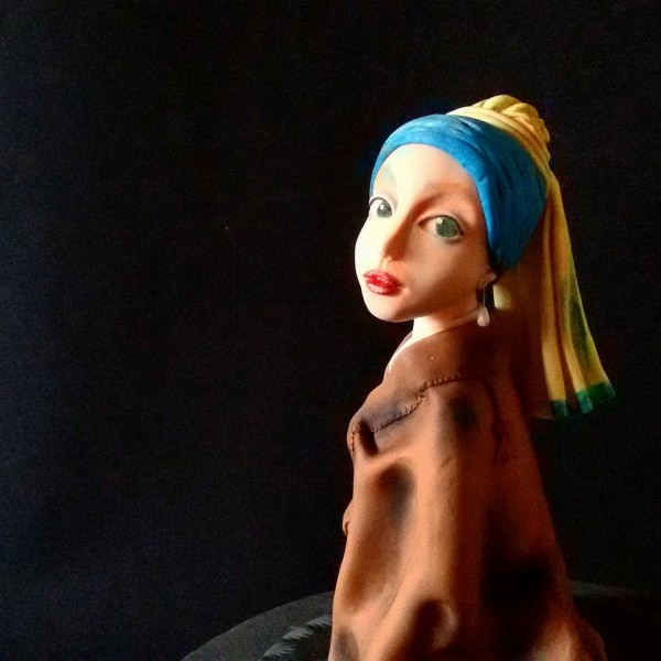 girl with pearl earring cake