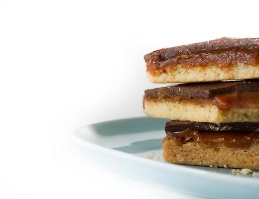 ricetta biscotti burro cioccolato caramello