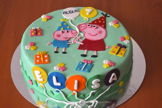 torta compleanno di peppa pig