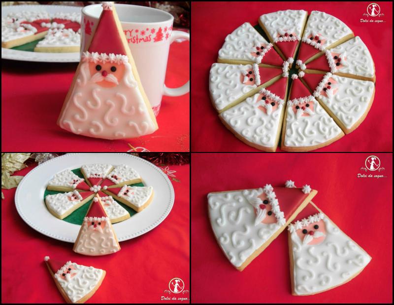 Biscotti Babbo Natale a spicchi ©Dolci da sogno