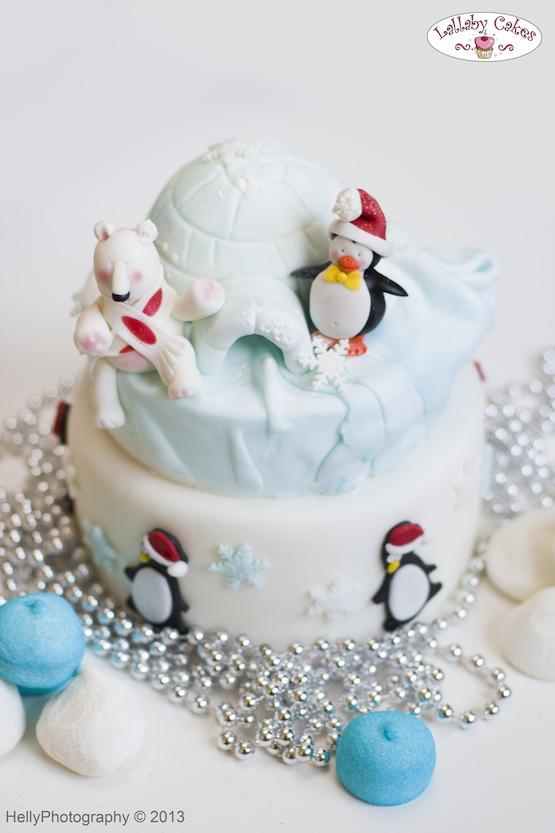 torta natale pinguini igloo