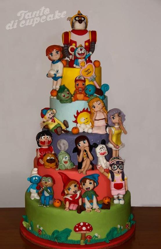 Torte con personaggi dei cartoni animati giapponesi