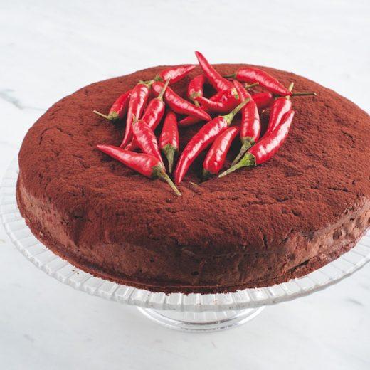 Pastel torta cioccolato peperoncino messicana