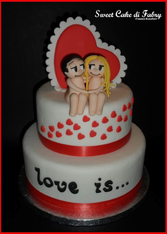 Torta Love is...: dolcissime torte di cake design per San ...