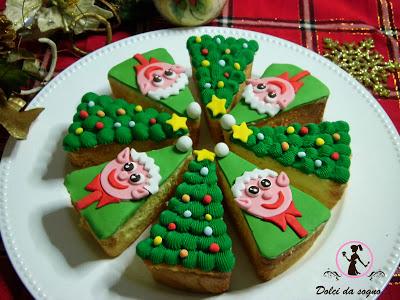 torta natale spicchi cakedesign