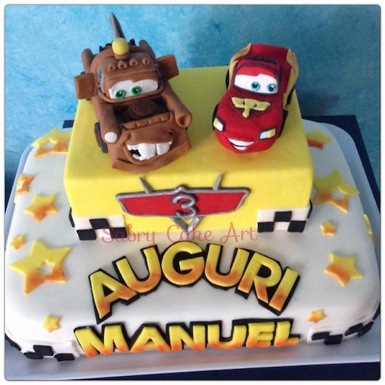 Torte Cars: Saetta McQueen e Cricchetto in pasta di zucchero
