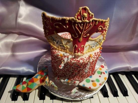 maschera di carnevale in pasta di zucchero