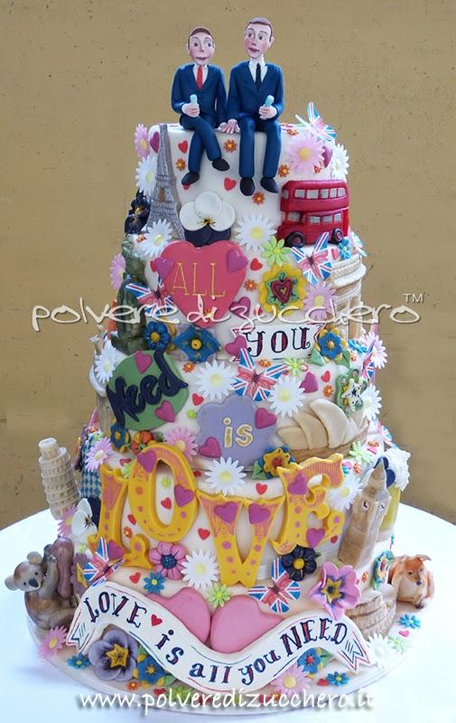 torta decorata pasta di zucchero