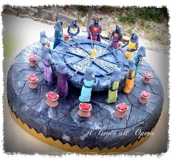 Torte con mike il cavaliere e torte in stile medievale cakemania dolci e cake design - Numero cavalieri tavola rotonda ...
