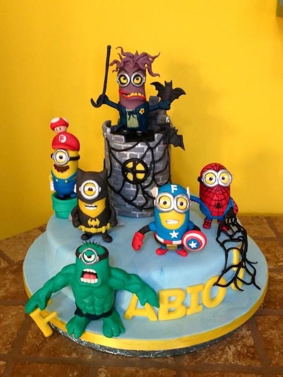 torta-minions-supereroi Stefania Roberti
