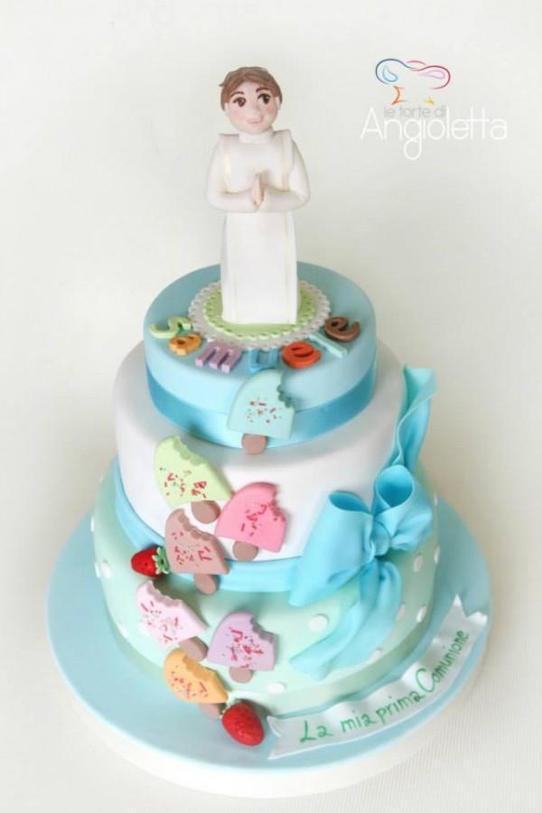 torta prima comunione bambino maschio