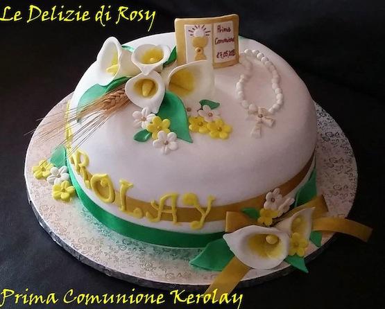 Favoloso Torte Per Comunione Bambina NF86 » Regardsdefemmes OR88