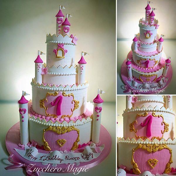 torta castello compleanno bimba