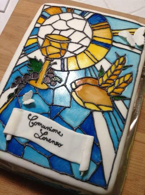 torta comunione vetro piombato