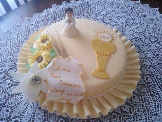 Torta prima comunione angela sacco cakemania dolci e for Decorazione torte prima comunione