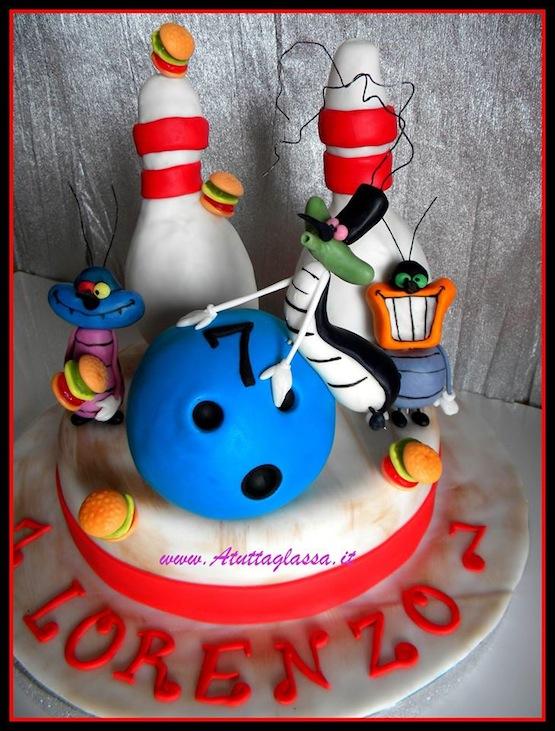 Torta Compleanno Oggy E I Maledetti Scarafaggi.Torte Oggy E I Maledetti Scarafaggi