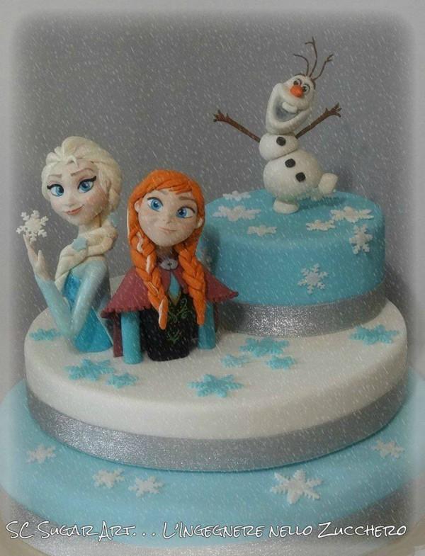 Torte Frozen: dolci e biscotti con Elsa, Anna, Olaf