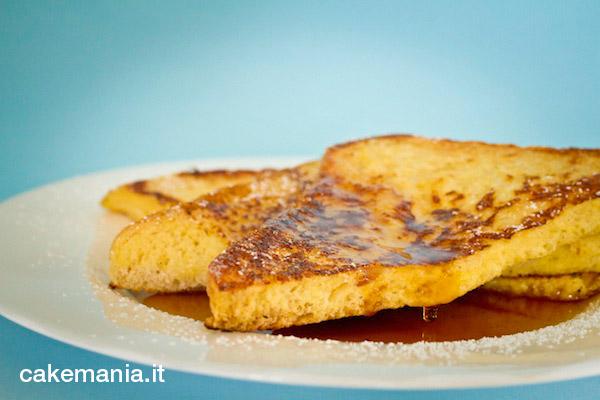 French toast con sciroppo d'acero ricetta cakemania