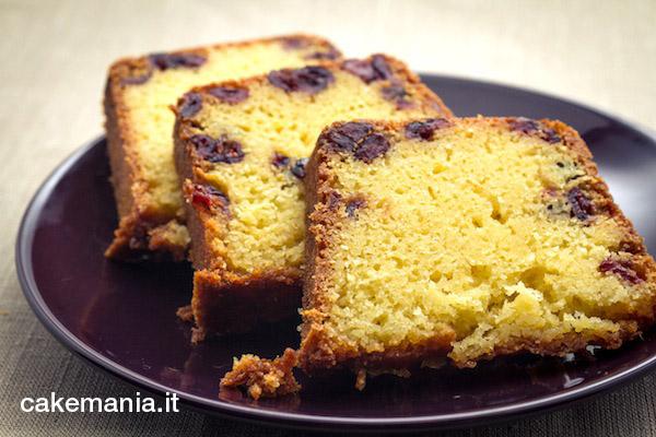 ricetta torta quattro quarti cranberry arancia