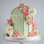 bird cage wedding-cake