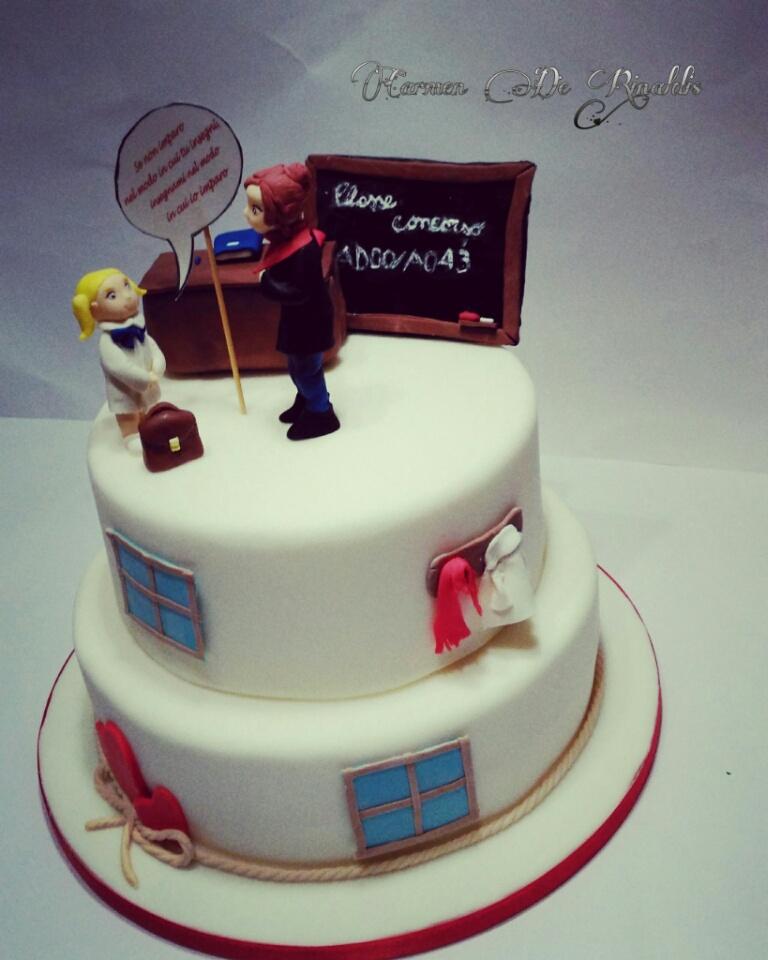 Scuola Di Cake Design Torino : Torta scuola: dolci di cake design per festeggiare la scuola