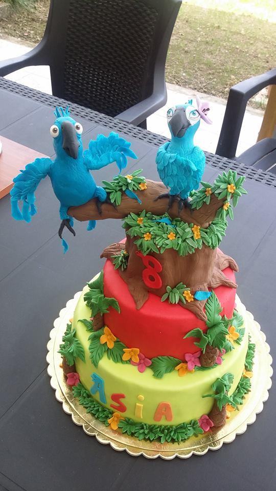 Torte con il pappagallo Rio