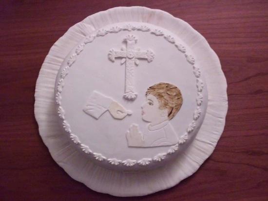 torta per Prima Comunione maschio