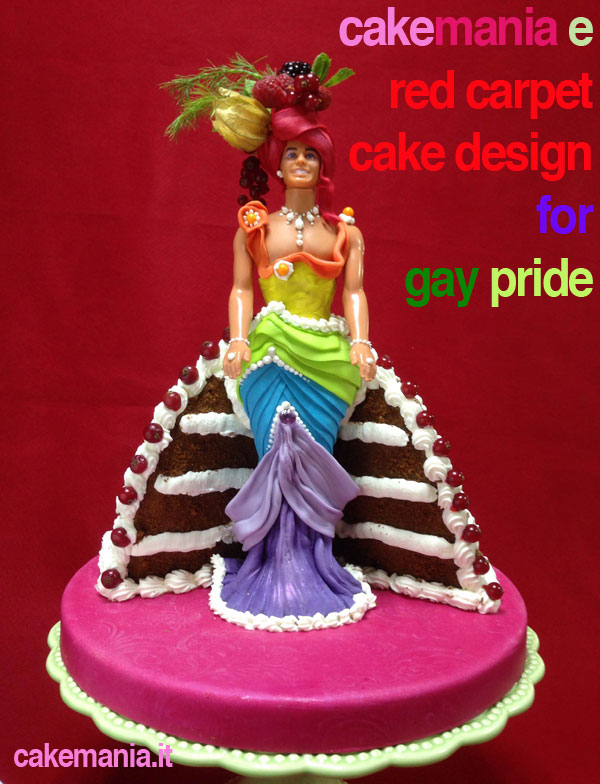 torta decorata per il gay pride