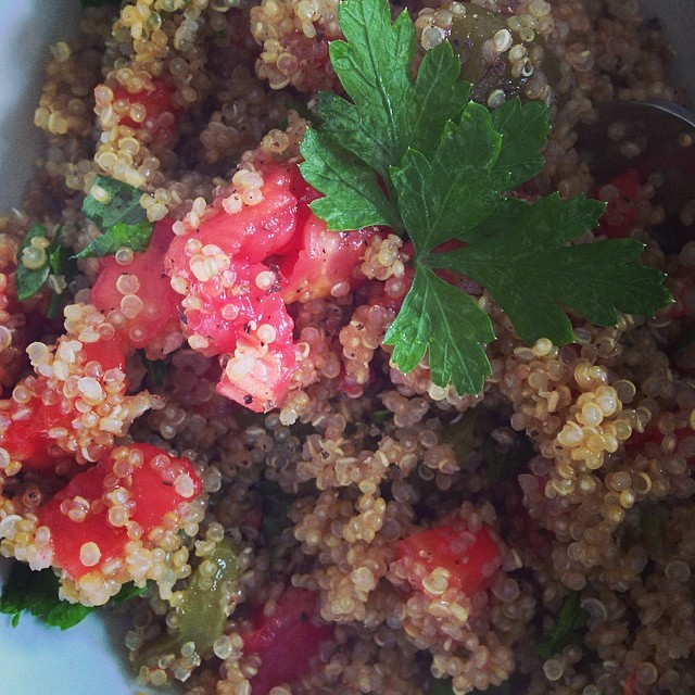 #bonappetit #quinoa #lunch #nonsolotorte but #yeswecake!
