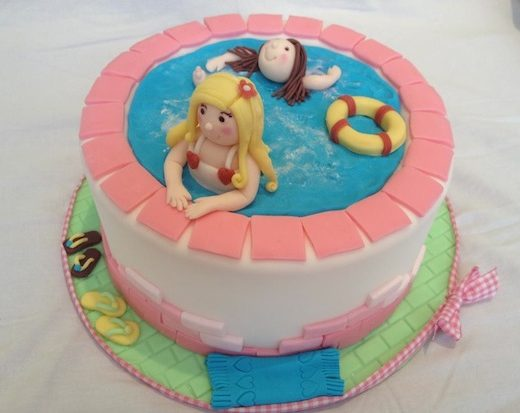 torta decorata cakedesign piscina
