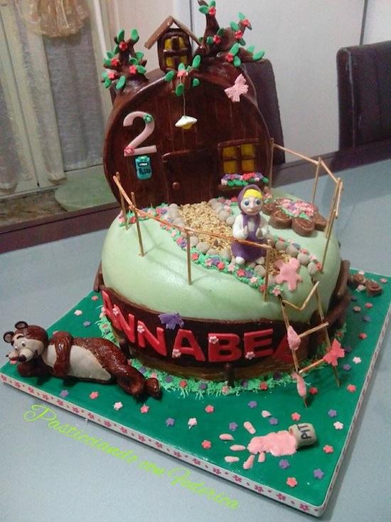 Torte Masha e Orso: dolci per compleanni da favola