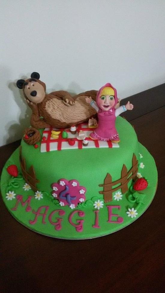 Attrezzatura Per Cake Design Torino : Torte Masha e Orso: dolci per compleanni da favola