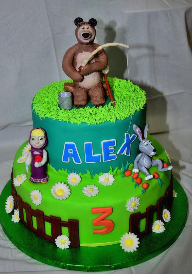 Torta Decorata Masha E Orso Cakemania Dolci E Cake Design