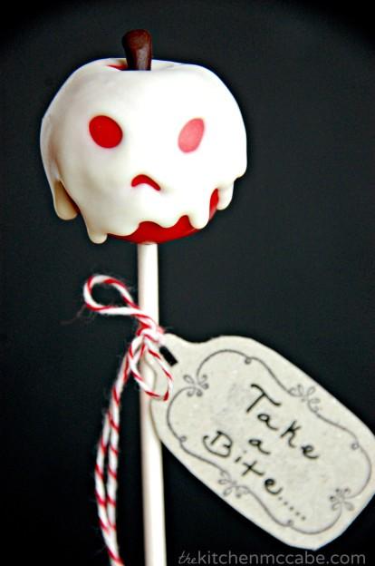 cake pop halloween mela avvelenata