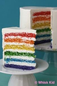 La torta Arcobaleno è stata inventata dalla giovane blogger americana Kaitlin Flannery in onore di un'amica che lasciava il college