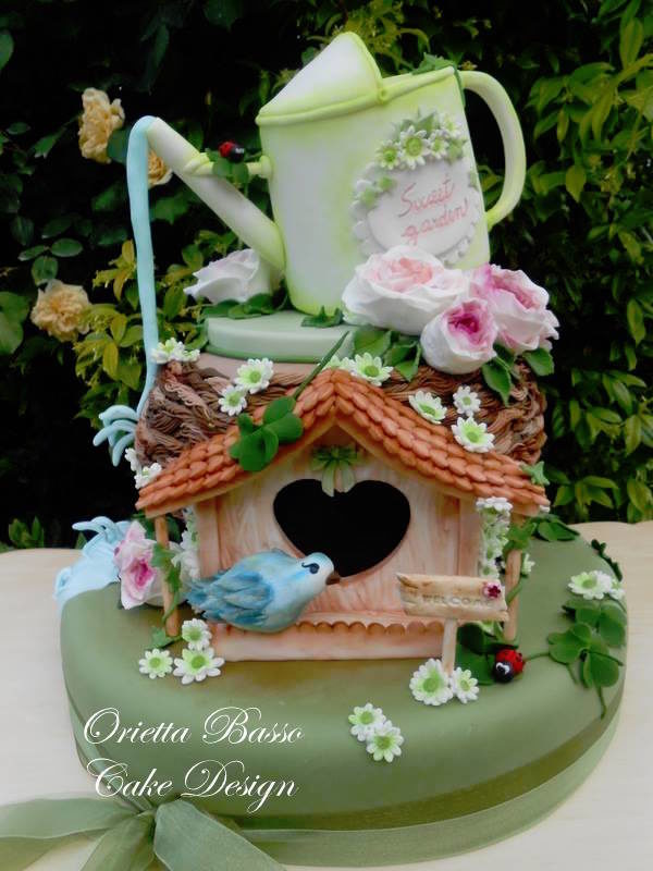 torta cake design giardino