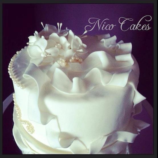torta bianca cake design