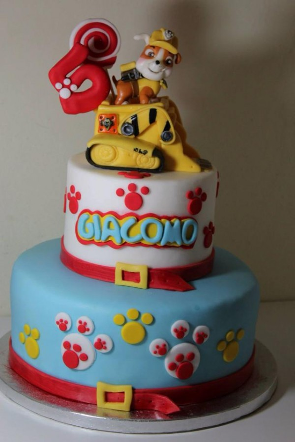 Girls Paw Patrol Birthday Cake Girl