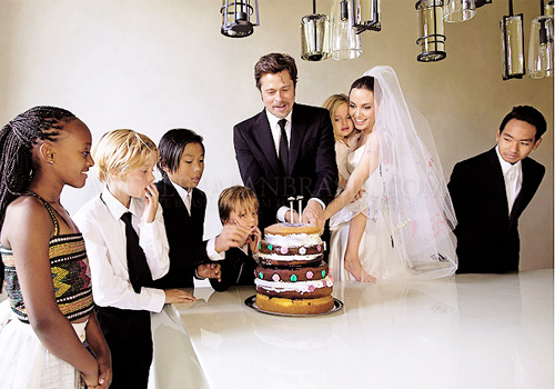 wedding cake Brad Pitt e Angelina Jolie