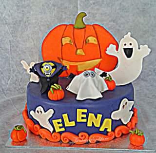 minion halloween cake