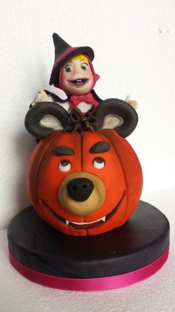 torta halloween masha orso